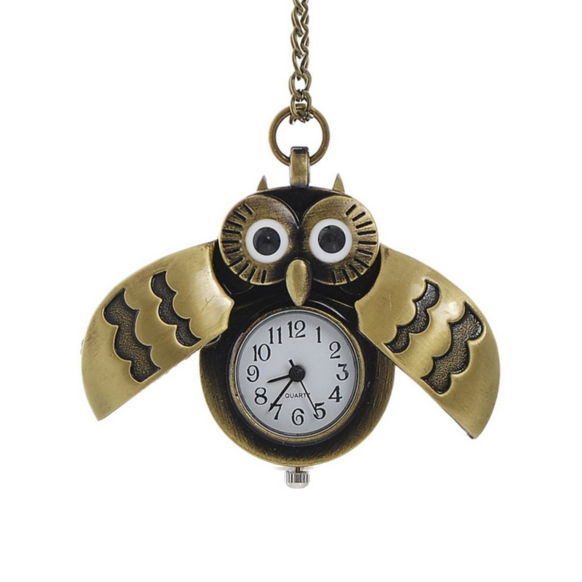 Cute owl clock pendant necklace owl gift ideas mozeypictures Images